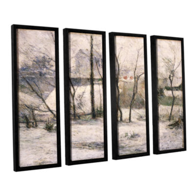 Brushstone Winter Landscape 4-pc. Floater Framed Canvas Wall Art