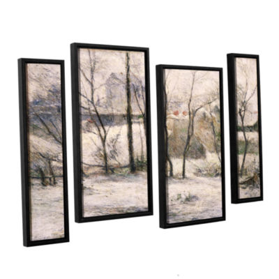 Brushstone Winter Landscape 4-pc. Floater Framed Staggered Canvas Wall Art