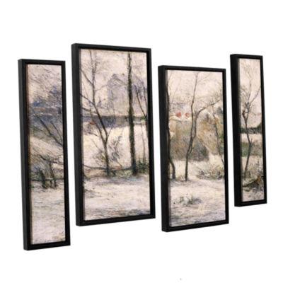 Brushstone Winter Landscape 4-pc. Floater Framed Staggered Canvas Wall Art