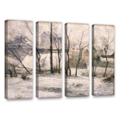 Brushstone Winter Landscape 4-pc. Gallery WrappedCanvas Wall Art
