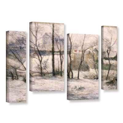 Brushstone Winter Landscape 4-pc. Gallery WrappedStaggered Canvas Wall Art