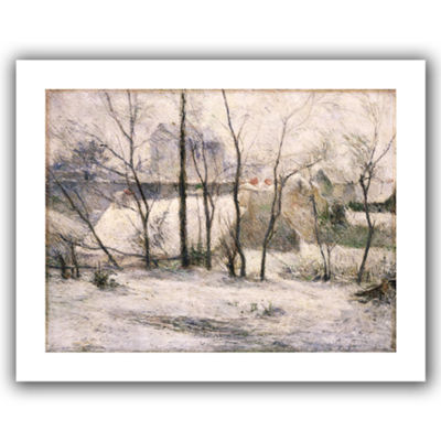 Brushstone Winter Landscape Canvas Wall Art
