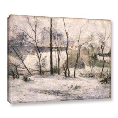 Brushstone Winter Landscape Gallery Wrapped CanvasWall Art