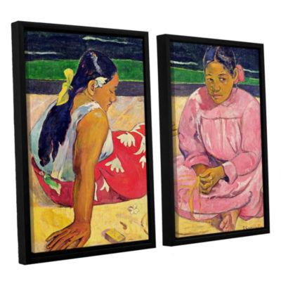Brushstone Women of Tahiti 2-pc. Floater Framed Canvas Wall Art