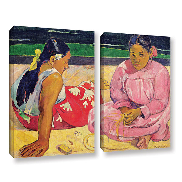 Brushstone Women of Tahiti 2-pc. Gallery Wrapped Canvas Wall Art