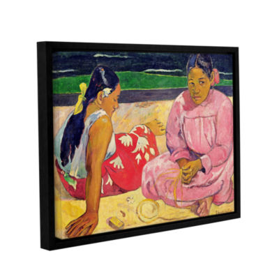 Brushstone Women of Tahiti Gallery Wrapped Floater-Framed Canvas Wall Art