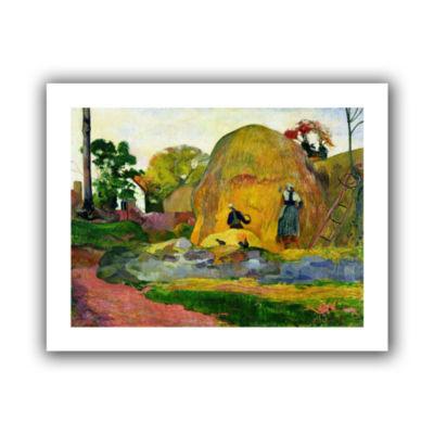 Brushstone Yellow Haystacks Canvas Wall Art
