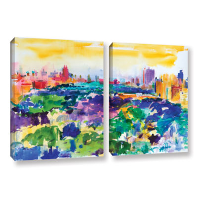 Brushstone Central Park  New York  2011 2-pc. Gallery Wrapped Canvas Wall Art