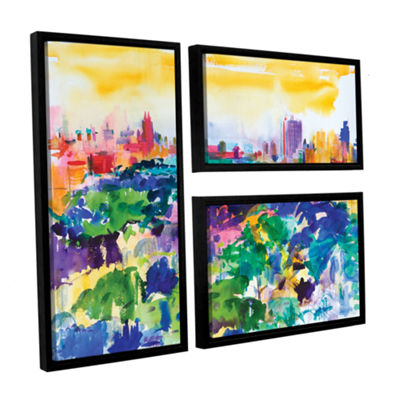 Brushstone Central Park  New York  2011 3-pc. FlagFloater Framed Canvas Wall Art