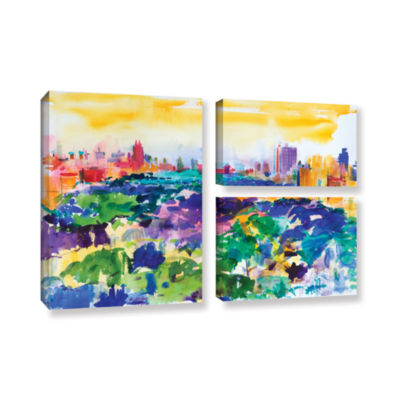 Brushstone Central Park  New York  2011 3-pc. FlagGallery Wrapped Canvas Wall Art