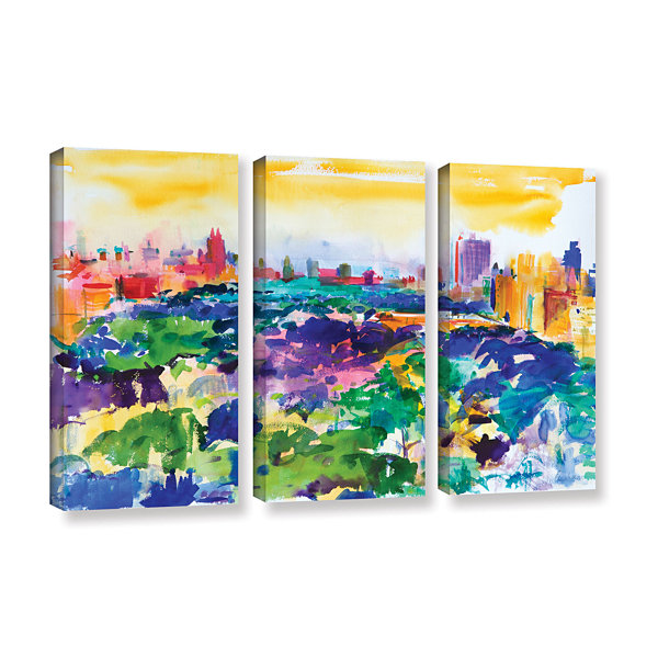Brushstone Central Park  New York  2011 3-pc. Gallery Wrapped Canvas Wall Art