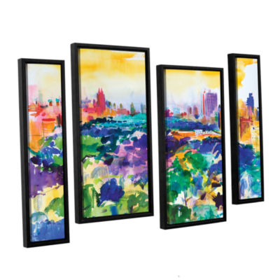 Brushstone Central Park  New York  2011 4-pc. Floater Framed Staggered Canvas Wall Art
