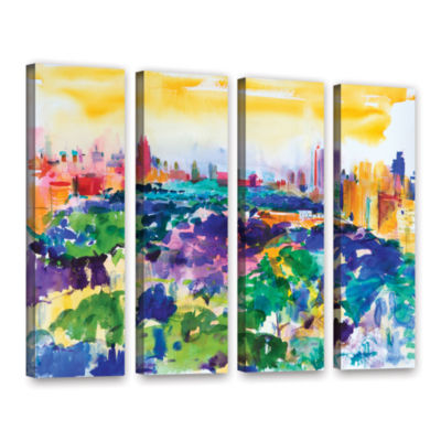 Brushstone Central Park  New York  2011 4-pc. Gallery Wrapped Canvas Wall Art