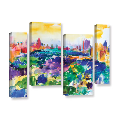 Brushstone Central Park  New York  2011 4-pc. Gallery Wrapped Staggered Canvas Wall Art