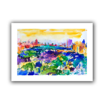 Brushstone Central Park  New York  2011 Canvas Wall Art