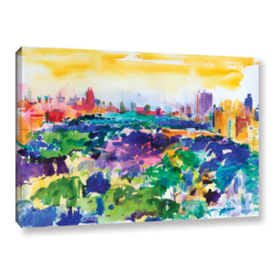 Brushstone Central Park  New York  2011 Gallery Wrapped Canvas Wall Art