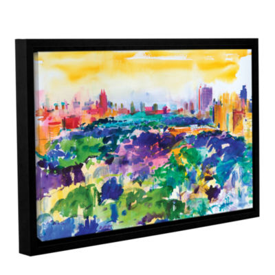 Brushstone Central Park  New York  2011 Gallery Wrapped Floater-Framed Canvas Wall Art