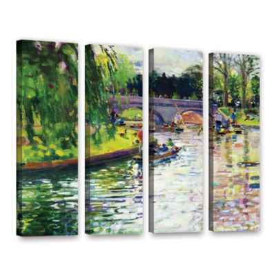 Brushstone Glad Green Summer 4-pc. Gallery WrappedCanvas Wall Art