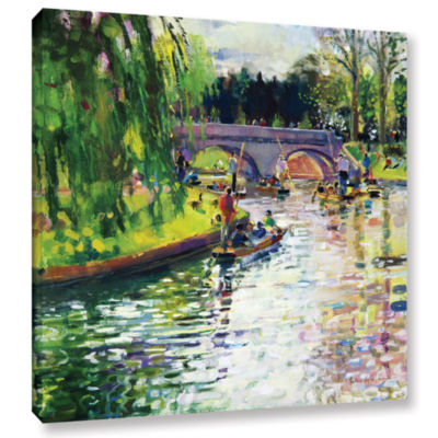 Brushstone Glad Green Summer Gallery Wrapped Canvas Wall Art