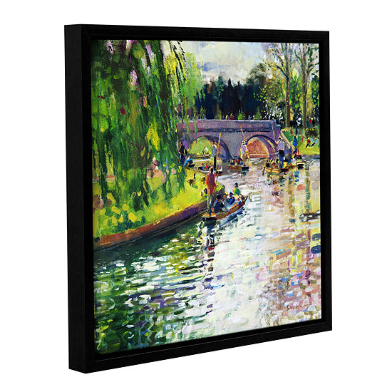 Brushstone Glad Green Summer Gallery Wrapped Floater-Framed Canvas Wall Art