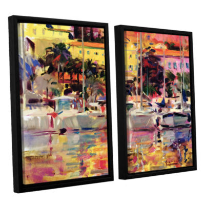 Brushstone Golden Harbor Vista 2-pc. Floater Framed Canvas Wall Art