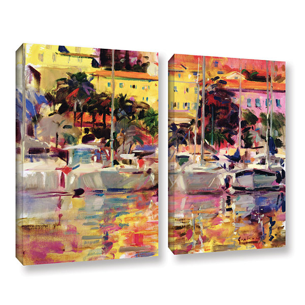 Brushstone Golden Harbor Vista 2-pc. Gallery Wrapped Canvas Wall Art