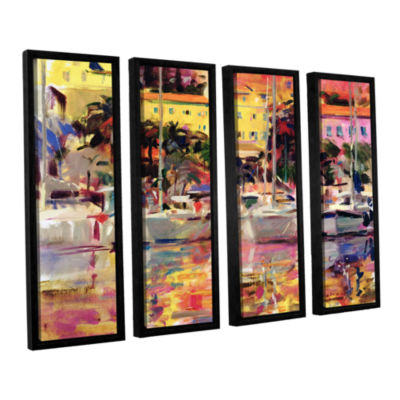 Brushstone Golden Harbor Vista 4-pc. Floater Framed Canvas Wall Art