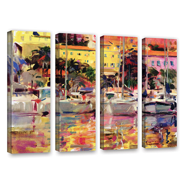 Brushstone Golden Harbor Vista 4-pc. Gallery Wrapped Canvas Wall Art