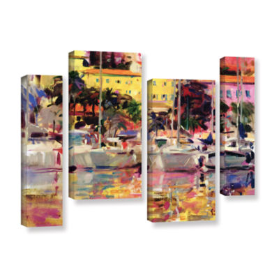 Brushstone Golden Harbor Vista 4-pc. Gallery Wrapped Staggered Canvas Wall Art