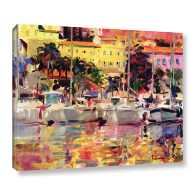 Brushstone Golden Harbor Vista Gallery Wrapped Canvas Wall Art