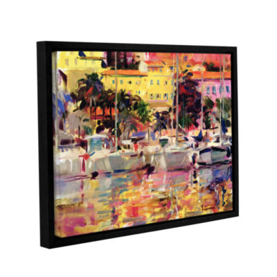 Brushstone Golden Harbor Vista Gallery Wrapped Floater-Framed Canvas Wall Art