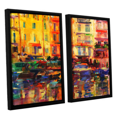 Brushstone Grand Harbour  Cannes 2-pc. Floater Framed Canvas Wall Art