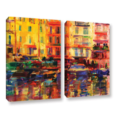 Brushstone Grand Harbour  Cannes 2-pc. Gallery Wrapped Canvas Wall Art