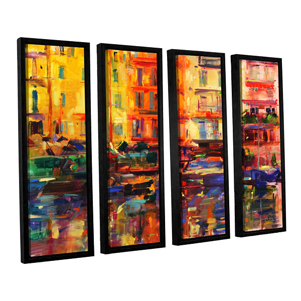 Brushstone Grand Harbour  Cannes 4-pc. Floater Framed Canvas Wall Art