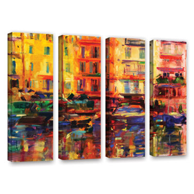Brushstone Grand Harbour  Cannes 4-pc. Gallery Wrapped Canvas Wall Art