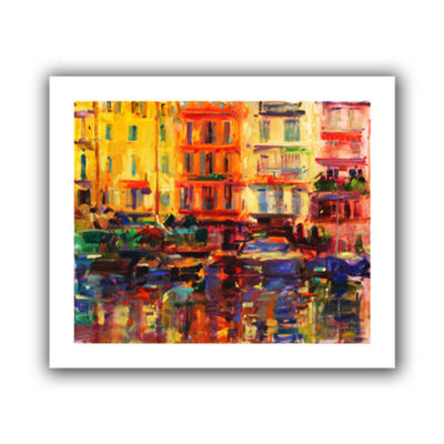 Brushstone Grand Harbour  Cannes Canvas Wall Art