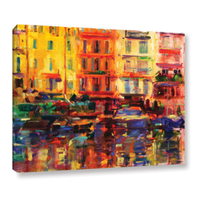 Brushstone Grand Harbour  Cannes Gallery Wrapped Canvas Wall Art