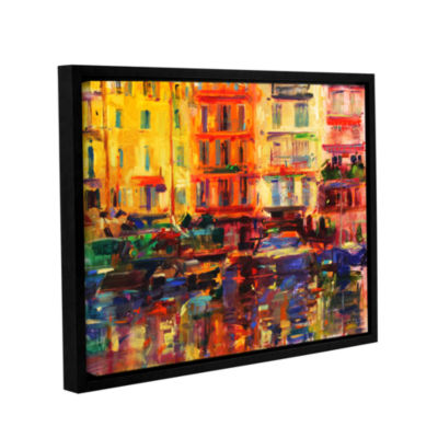 Brushstone Grand Harbour  Cannes Gallery Wrapped Floater-Framed Canvas Wall Art