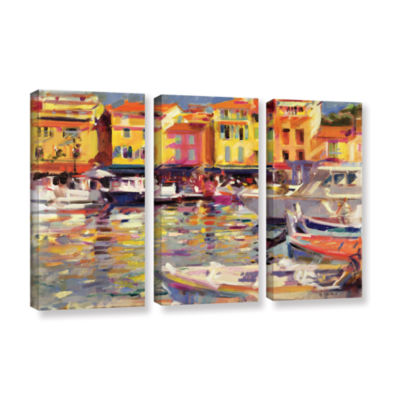 Brushstone Harbour at Cassis 3-pc. Gallery WrappedCanvas Wall Art