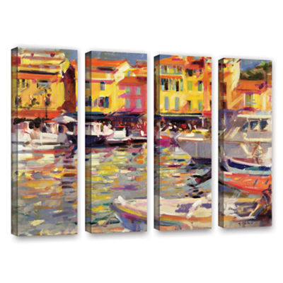 Brushstone Harbour at Cassis 4-pc. Gallery WrappedCanvas Wall Art