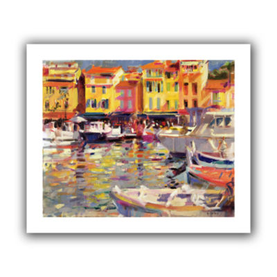 Brushstone Harbour at Cassis Canvas Wall Art