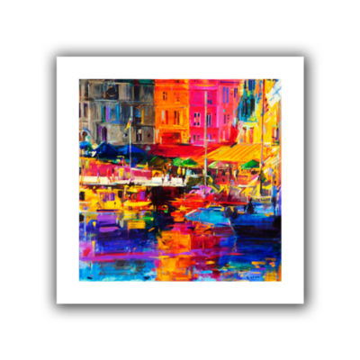 Brushstone Honfleur Harbour  2011 Canvas Wall Art