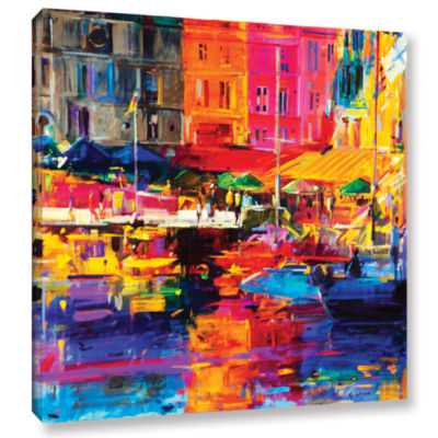 Brushstone Honfleur Harbour  2011 Gallery WrappedCanvas Wall Art