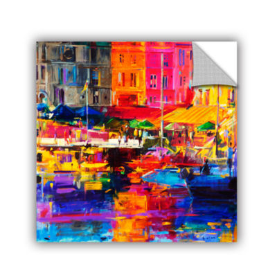 Brushstone Honfleur Harbour  2011 Removable Wall Decal