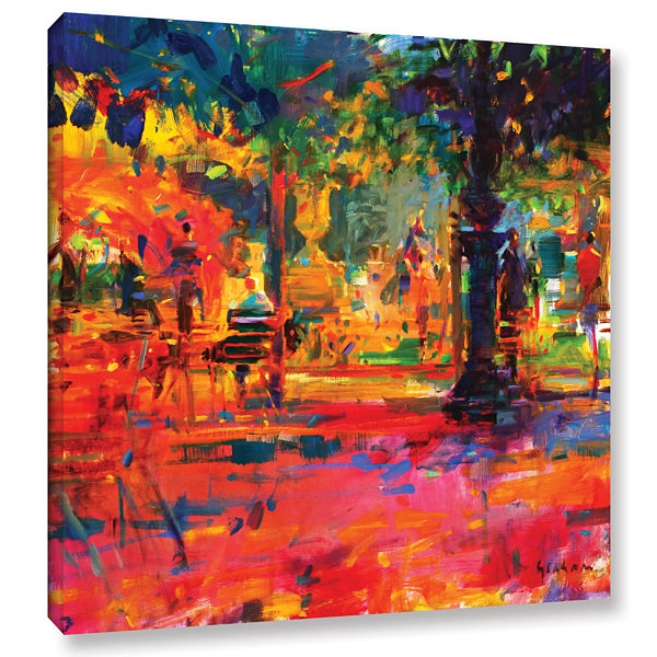 Brushstone La Terrasse du Jardin Gallery Wrapped Canvas Wall Art