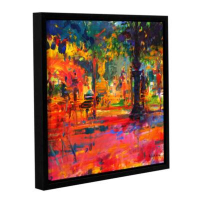 Brushstone La Terrasse du Jardin Gallery Wrapped Floater-Framed Canvas Wall Art
