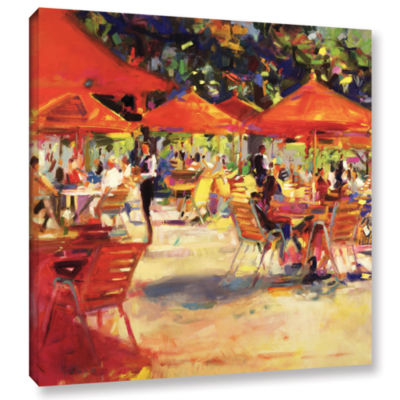 Brushstone Le café du Jardin Gallery Wrapped Canvas Wall Art