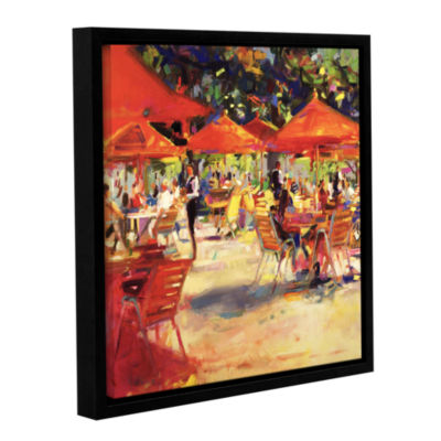 Brushstone Le café du Jardin Gallery Wrapped Floater-Framed Canvas Wall Art