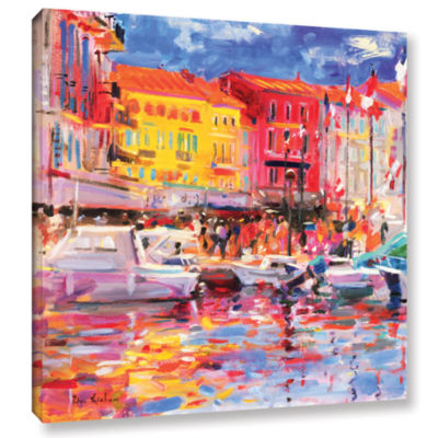 Brushstone Le Port de St Tropez Gallery Wrapped Canvas Wall Art