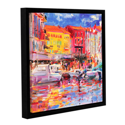 Brushstone Le Port de St Tropez Gallery Wrapped Floater-Framed Canvas Wall Art